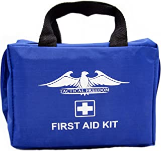 First Aid Kit Emergency Survival – Perfect for Backpacking, Boating, Camping, Hiking, Home, Travel, Business, Car. First Aid Kit Contains Belt Tourniquet, Trauma Pads, Cold Pack, Bandages and more