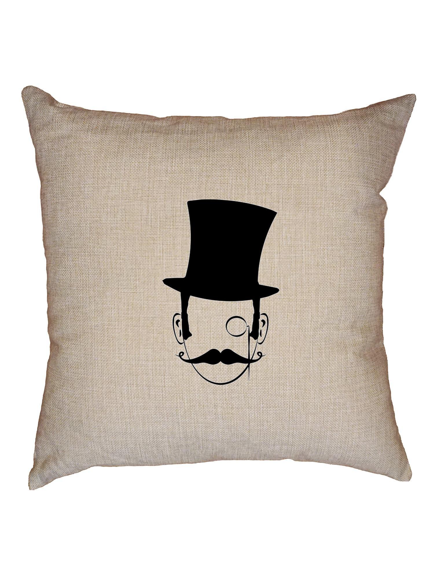 Hollywood Hipster Monopoly Man - Funda de cojín con inserto para hombre con diseño de monóculo y bigote: Amazon.es: Hogar