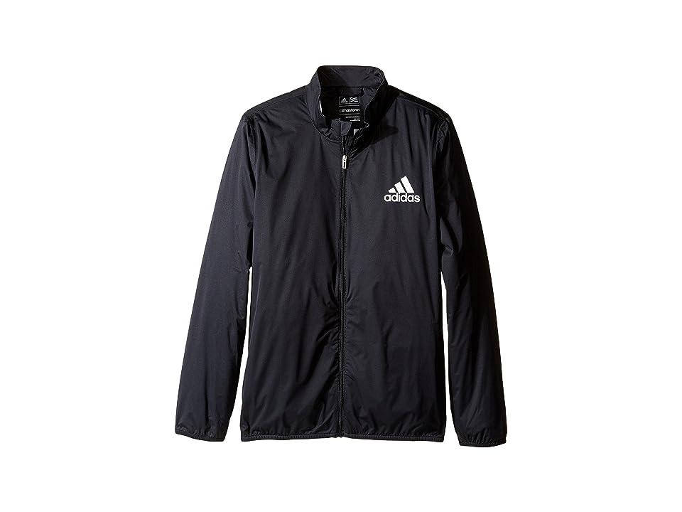Image of adidas Golf Kids Provisional Rain Jacket (Big Kids) (Black) Boy's Coat