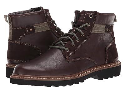 Rockport Peirson Plain Toe Boot (Java Leather/Suede) Men