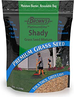 F.M. Brown's PlatinumElite Shady Grass Seed Mixture, 1 lb. | 99.9% Weed Free, Fast-Growing Perennial Seeds for Beautiful Lawns