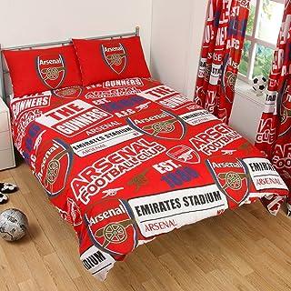 Arsenal Oficial Doble Juego de Funda de edredón, Rojo