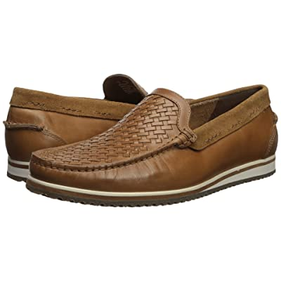 Hush Puppies Bolognese Woven Moc (Light Brown Leather) Men