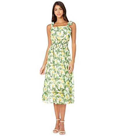 Sam Edelman Lemon Printed A-Line Dress (Ivory Multi) Women