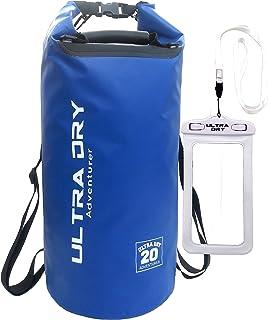 Bolsa estanca de alta resistencia al agua correa de hombro incluida perfecto para kayak//vela//canoa//pesca//rafting//nataci/ón//acampada//snowboard Ultra Ever Dry con bolsa para el tel/éfono y largo ajustable