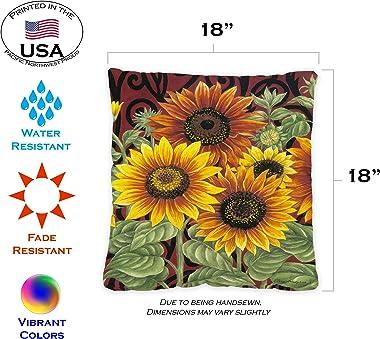 Toland Home Garden 761215 Sunflower Medley 18 x 18 Inch Outdoor, Pillow Case Only (2-Pack)