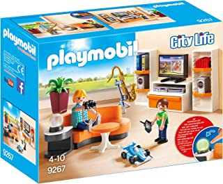 PLAYMOBIL City Life Salón con Efectos de Luz a Partir de 4 Años (9267)