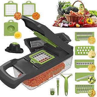 Blaze AU Vegetable Chopper - 15 in 1 Multi-Purpose Mandoline Slicer - Vegetable Slicer - Fruit Cutter with 7 Adjustable Bl...