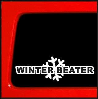 Winter Beater Sticker Decal funny snow lowered car JDM Drift AWD