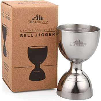 Bell Jigger - Premium Vintage Double Cocktail Jigger, 1oz/2oz made from Stainless Steel 304