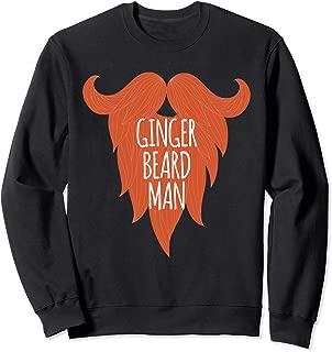 Ginger Beard Man Funny Christmas Hairy Ginger Bread Man Xmas Sweatshirt