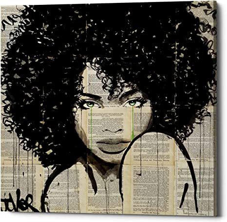 Epic Graffiti Angel By Loui Jover Canvas Wall Art 12 X 12 Black Posters Prints