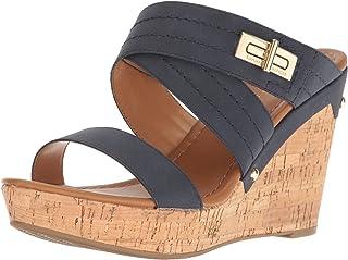 e65d38e668e4 Amazon.com  Tommy Hilfiger - Platforms   Wedges   Sandals  Clothing ...