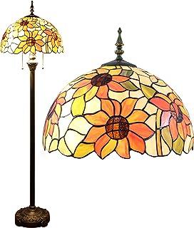 Gweat 16-Pouce Pastorale Tournesol Tiffany Lampadaire Chambre Lampe Salon