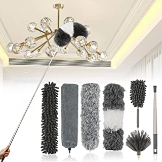 JIAHZ Microfiber Duster,7 PCS Feather Duster Cleaning Kit...