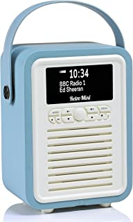 VQ Retro Mini DAB+ Digital Radio with AM/FM, Bluetooth & Alarm Clock – Blue