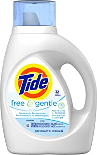 Tide Free & Gentle Liquid Laundry Detergent 32 Loads, 1.36L