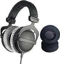 Beyerdynamic DT770 Pro headphones with Dekoni Audio Elite Velour Earpad set