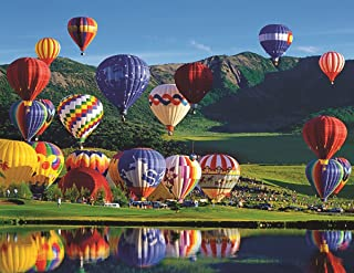 Springbok Puzzles - Balloon Bonanza - 350 Piece Jigsaw Puzzle - Large 23.5 Inches by 18 Inches Puzzle - Made in USA - Unique Cut Interlocking Pieces - Large Pieces - Easy to Pick and Place
