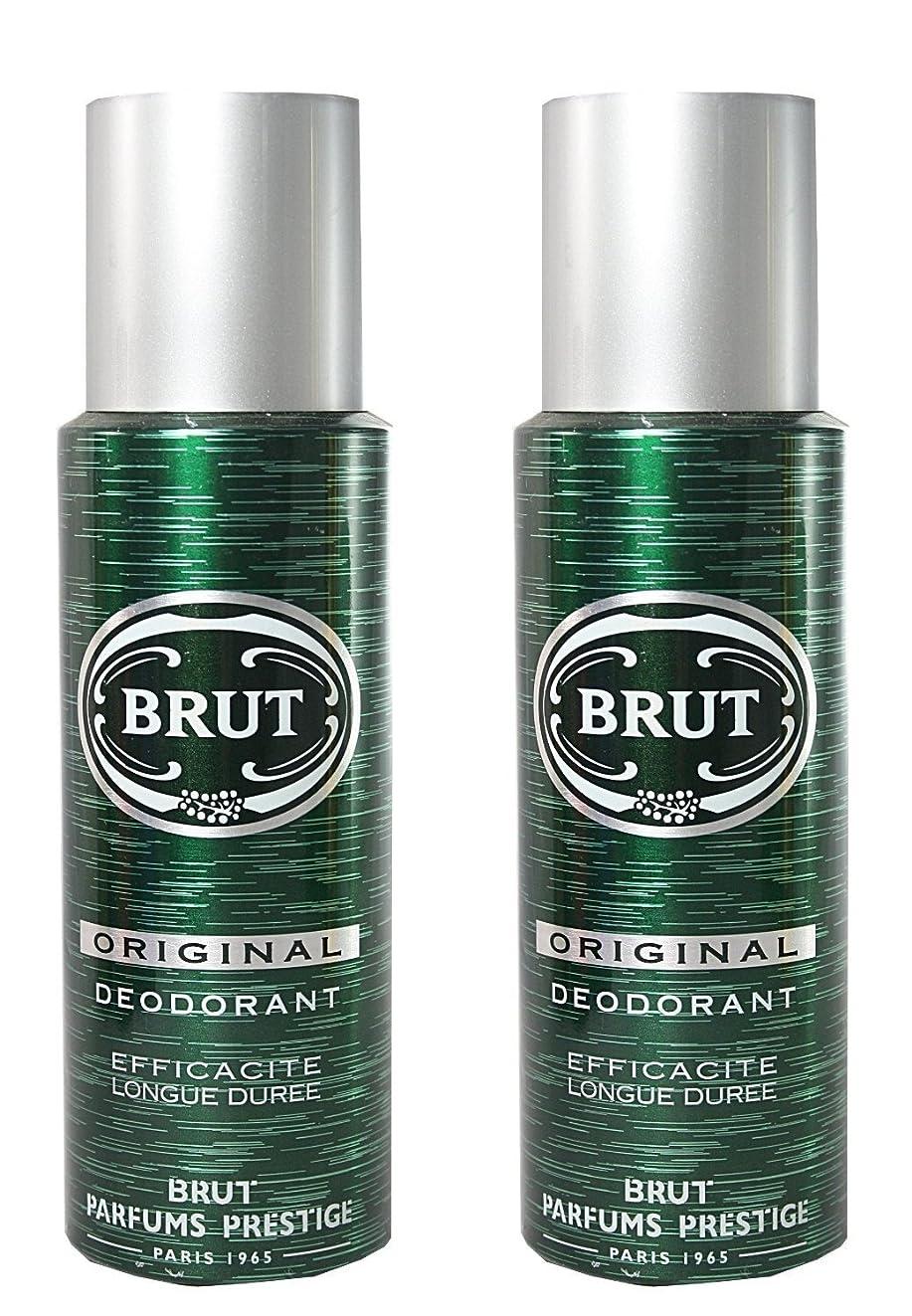 批判的調停者連結するBrut Original Deodorant Spray For Men - 200 Ml Pack Of 2