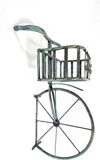 Blue Bicycle Front End Basket Decor