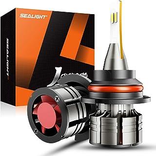SEALIGHT 9007/HB5 LED Headlight Bulbs, 60W 16000 Lumens Super Bright LED Headlights Conversion Kit 6500K Cool White, 360-degree Illumination, 300% Brightness, Pack of 2