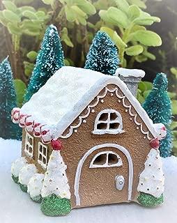 Miniature Mini Christmas Light Up Gnome Holidays Gingerbread House - Miniature Magic Scene Supplies Your Fairy Garden - Outdoor House Decor