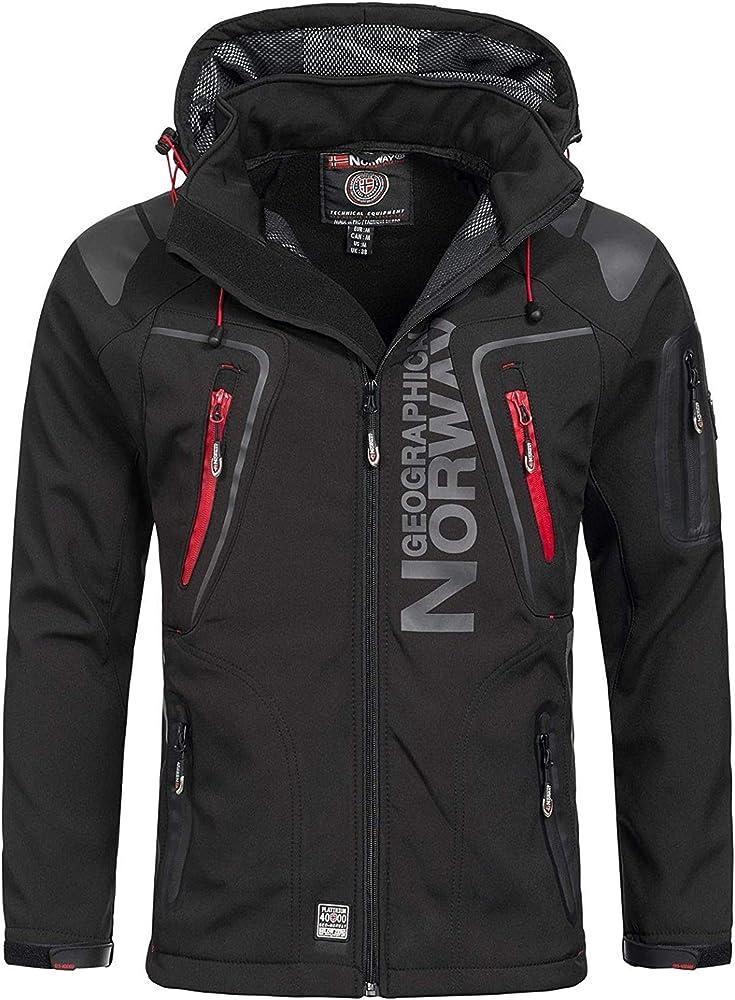 Geographical norway, giubotto softshell da uomo, modello: techno,giacca funzionale impermeabile 268622