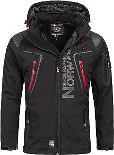 Geographical Norway-Chaqueta cortavientos para hombre, modelo: Techno, chaqueta de entretiempo con capucha, impermeable ...