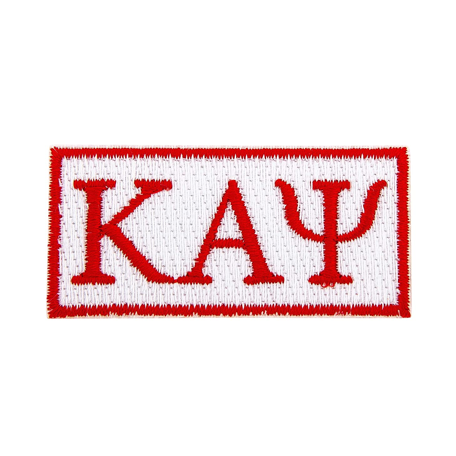 Kappa Alpha Psi Fraternity Rectangle Letter Embroidered Appliqué Patch Sew or Iron On Greek Blazer Jacket Bag Nupe (Rectangle Letter Patch)
