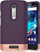 Encased Motorola Droid Turbo 2 Case, (SlimSHIELD Edition) Ultra Slim Cover (Full Coverage) Hybrid Slider Shell (Royal Purple)