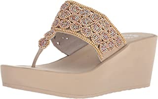 Yellow Box Women's P-Oudry Sandal, Taupe, 9 M US