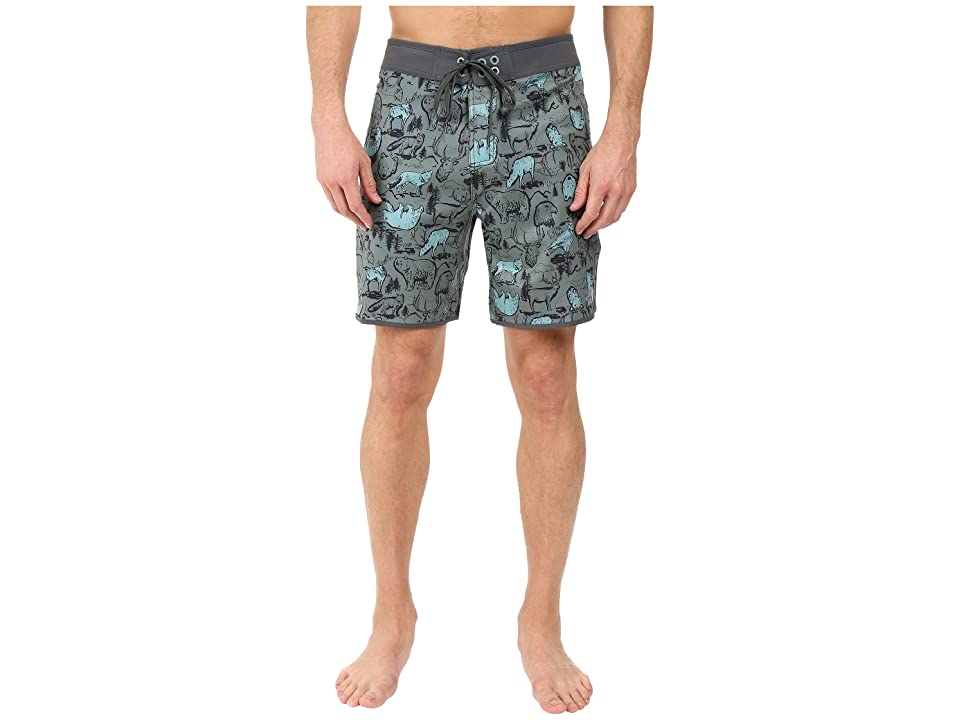 The North Face Whitecap Boardshorts Short (Laurel Wreath Green Wildlife Print (Prior Season)) Men