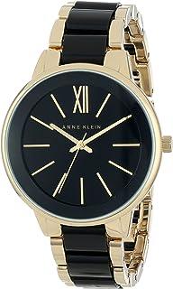 Anne Klein AK1412BKRG Reloj Análogo para Mujer, color Negro