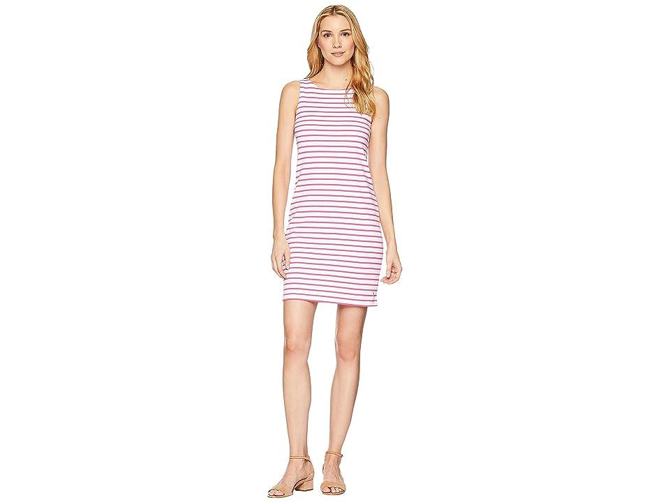 Joules Riva Sleeveless Jersey Dress (Bright Pink Stripe) Women