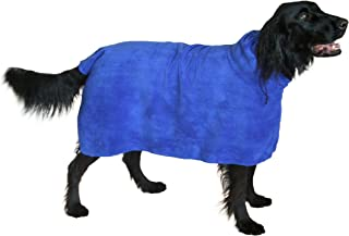 THE SNUGGLY DOG Easy Wear Dog Towel. Luxuriously Soft, Fast Drying 400gsm Microfiber. Soft Belt Included for a Warm Plush Dog Robe.