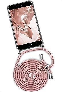 ONEFLOW Twist Case kompatibel mit iPhone 7 / iPhone 8   Handykette, Handyhülle mit Band zum Umhängen, Hülle mit Kette abnehmbar, Rosegold