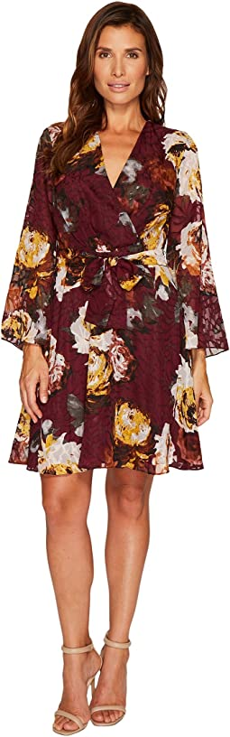 Ivanka Trump - Big Floral Print Georgette Dress