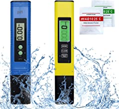 Koopro Digital PH ans TDS Meter Combo Water Quality Tester 2 in 1 Set for Water Systems Like Drinking Water Swimming Pools Fishing Ponds Aquariums Laboratory Including Carrying Case & Instruction
