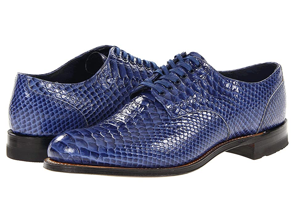 Mens Vintage Style Shoes| Retro Classic Shoes Stacy Adams Madison Blue Mens Plain Toe Shoes $125.00 AT vintagedancer.com