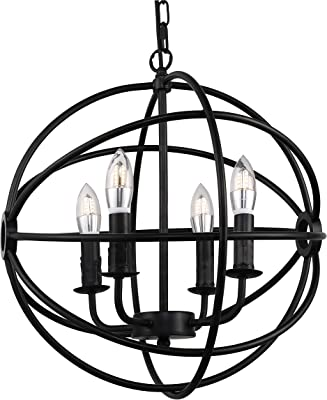 Lalula Chandeliers Orb Chandelier Oil Rubbed Bronze Pendant Lighting