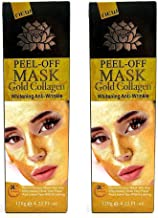 2 for 1 Pure Gold Facial Mask, Ultimate Gold Face Mask Formula Reduces Appearances of Wrinkles & Fine Lines, Helps with Acne and Firming Up Skin- Two Pack