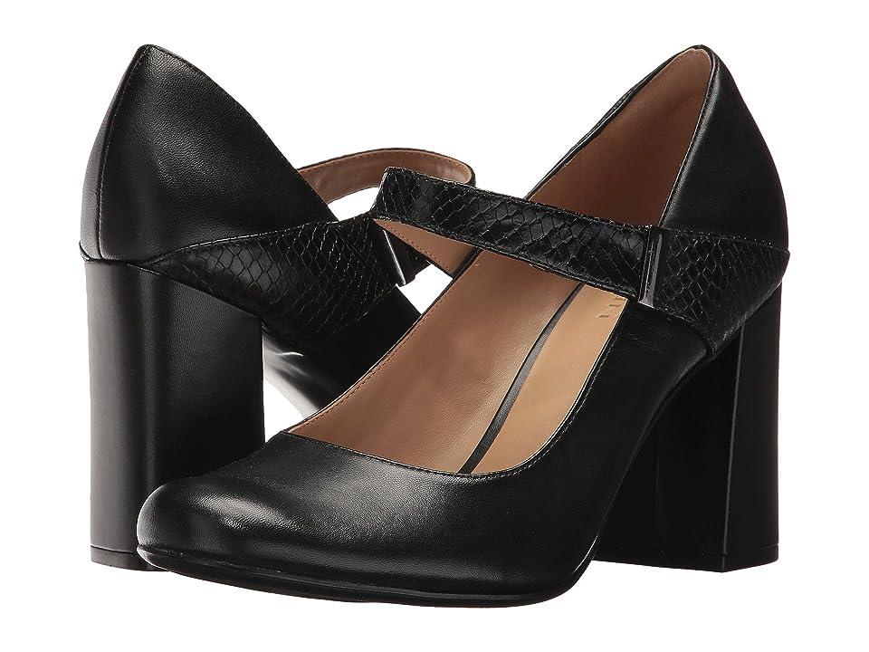 Naturalizer Reva (Black Leather/Foggy Snake Leather) Women