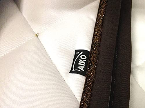 AIKO Tapis de Selle - Crystal Shine - blanc mocca - Full - Dressage