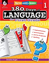 180 Days of Language for First Grade – Build Grammar Skills and Boost Reading Comprehension Skills with this 1st Grade Workbook (180 Days of Practice)