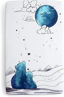 JumpOff Jo Cotton Mini Crib Sheet, Mama Bear Blue