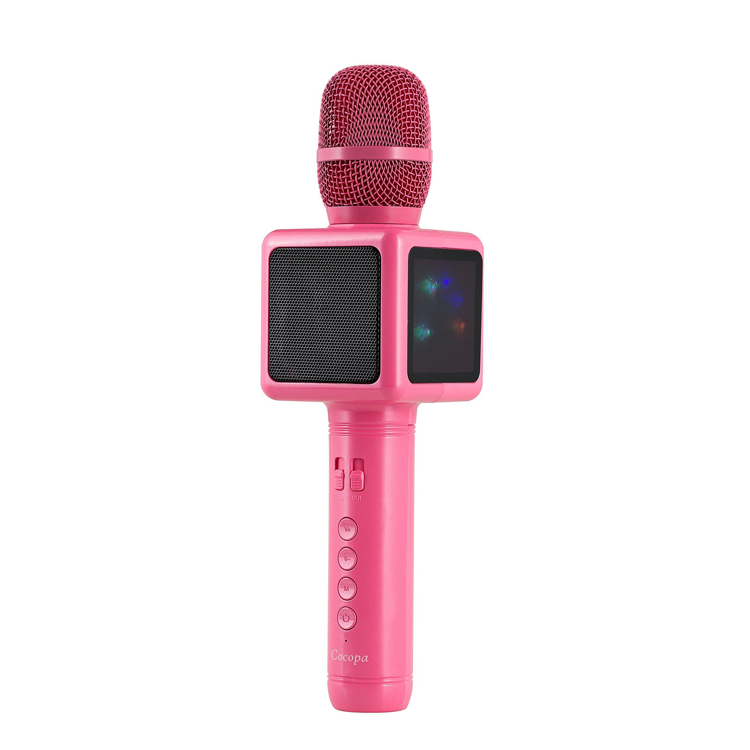 无线 Karaoke 麦克风,Cocopa 便携式手持式麦克风内置扬声器,带多功能专业经典风格卡拉 oke 播放器,适用于 iPhone/Android/智能手机,家庭聚会 KTV,户外,卡拉 OK101