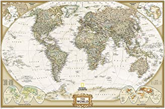 National Geographic: World Executive Wall Map (Poster Size: 36 x 24 inches) (National Geographic Reference Map)