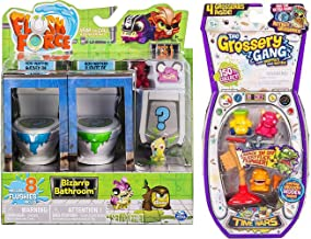 Stinky Slimy Plunger Toilet Bizarre Flush Bathroom Drain Attack Pack 2 Creature Bundle 4-Pack Gang Time Wars & 8 Flushies