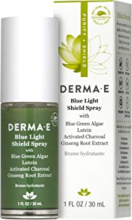 Derma E Blue Light Shield Charcoal Green Algae Spray, 30 ml